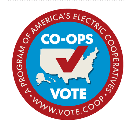 Co-Ops Vote Round Logo